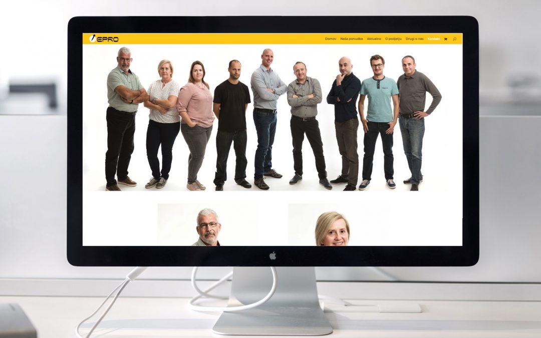 Sveže prenovljena spletna stran podjetja Epro